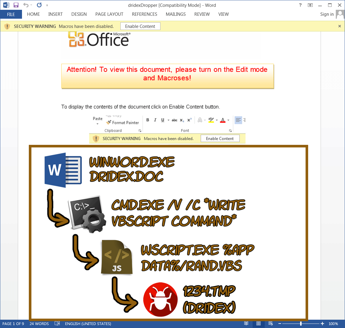 Analyzing malicious office documents